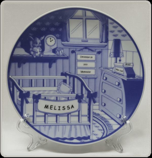 Porcelain Delft Nursery Plate & Decorative Porcelain Delft Nursery Plates   Treasured Baby Steps